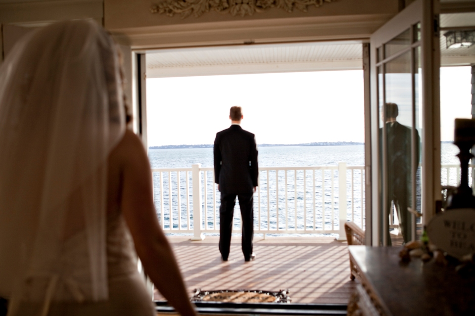 Bride walking towards her groom, melbourne wedding