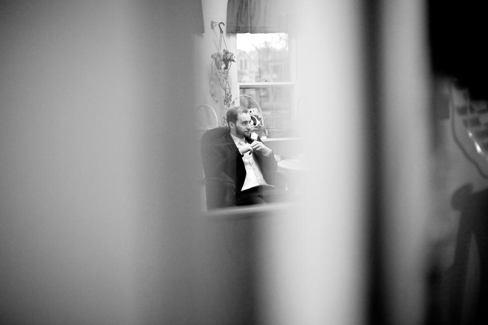 groom waiting in church melbourne wedding
