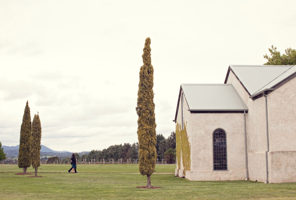 Stones of the Yarra Valley Wedding chapel ceremony