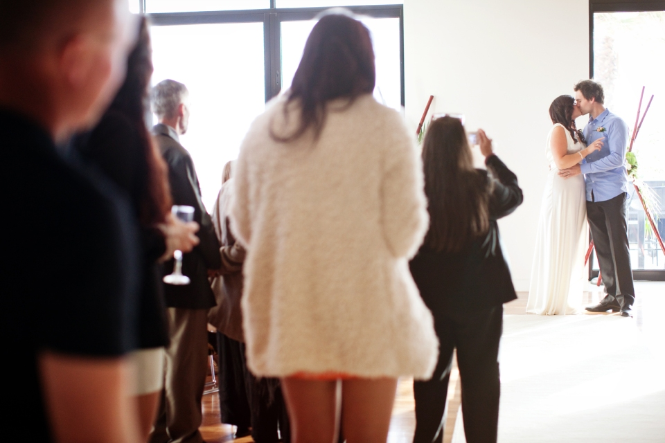 Engagement party becomes the wedding in St Kilda, Melbourne