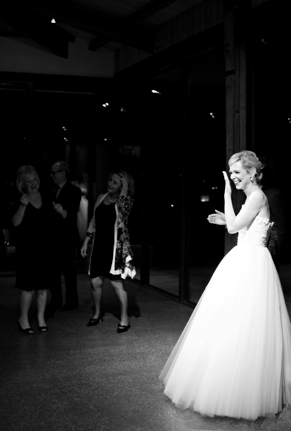 Bride dancing at yarra valley wedding