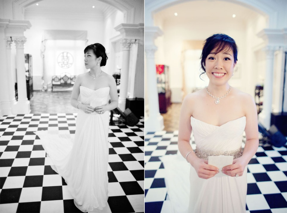 Bride preparing before wedding ceremony