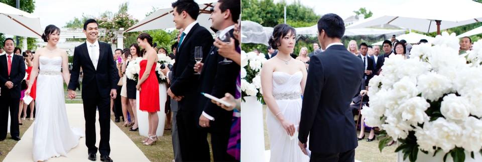 Melbourne casual Backyard garden wedding ceremony