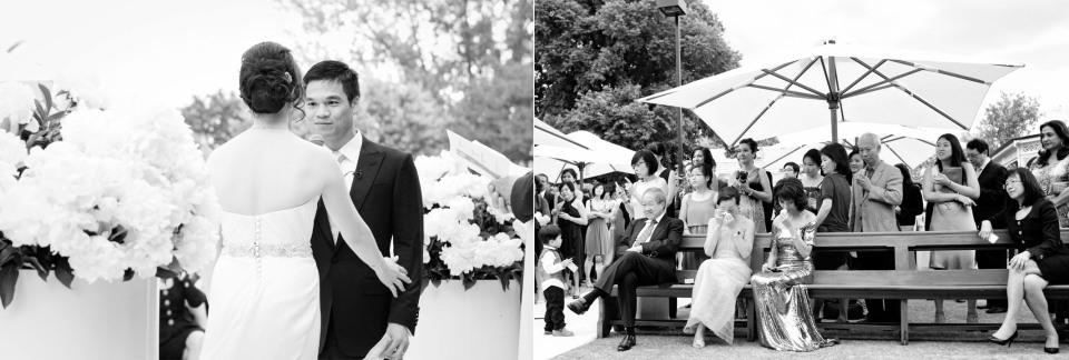 wedding ceremony in melbourne garden