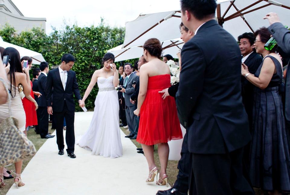 Mornington garden wedding at home, Victoria