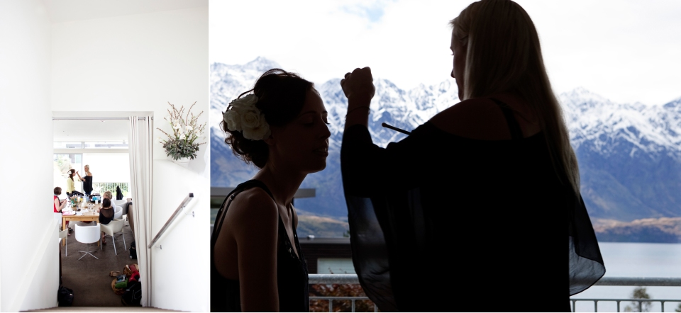bride getting ready photos, queenstown wedding Photographer