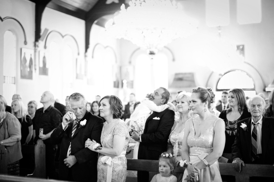 greek wedding, emotional parents in church ceremony, Melbourne wedding Photographer
