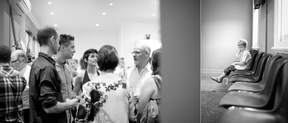 natural photos of wedding guests at Kent Hotle in carlton Melbourne