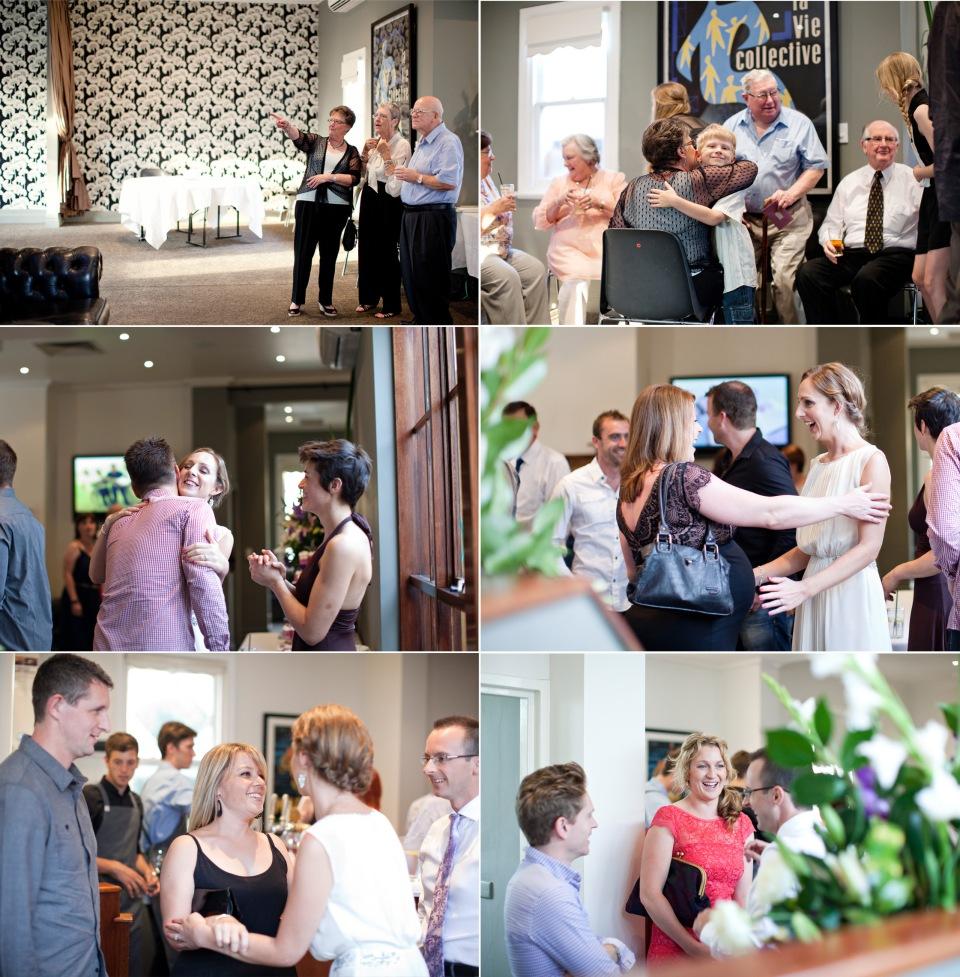 Wedding guests at Kent Hotel at reception