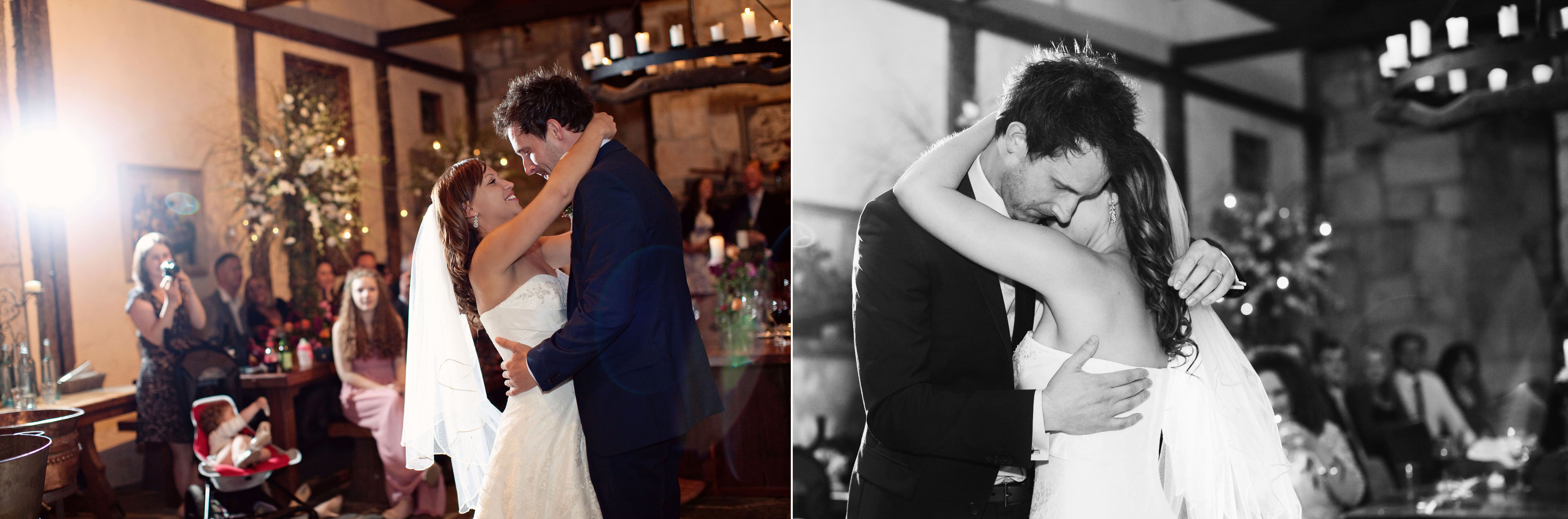 photos of first dance at winery in Yarra valley