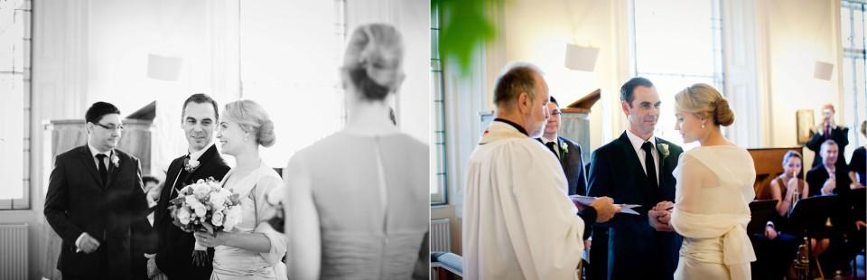 wedding ceremony at swedish church in Toorak, Melbourne