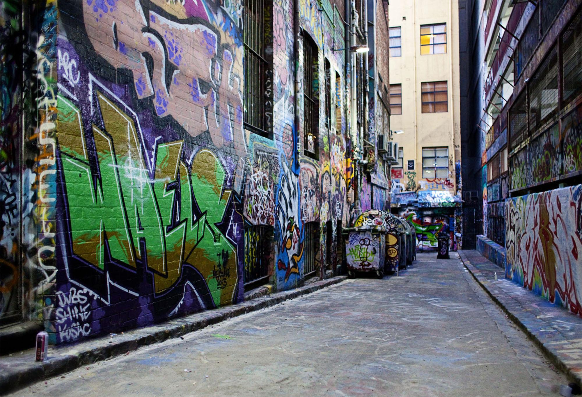 Graffiti in melbournes laneways
