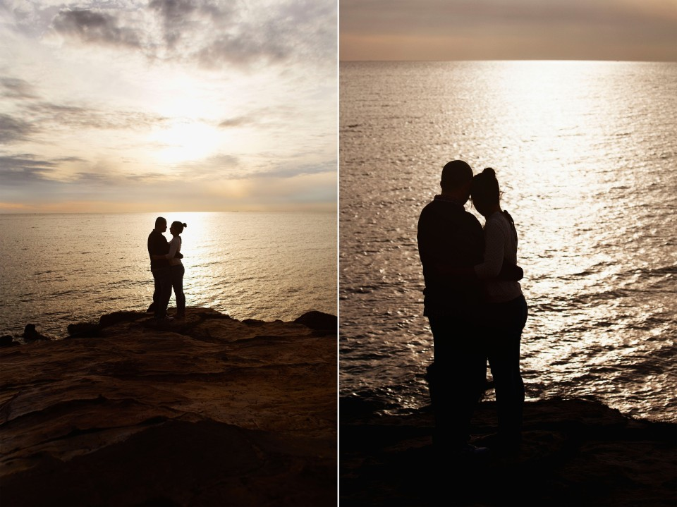 Engagement couple photos at sunset in melbourne
