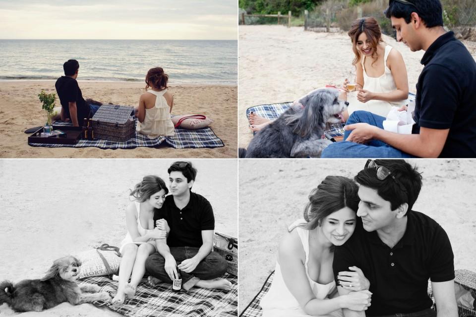 Melbourne picnic engagement photos