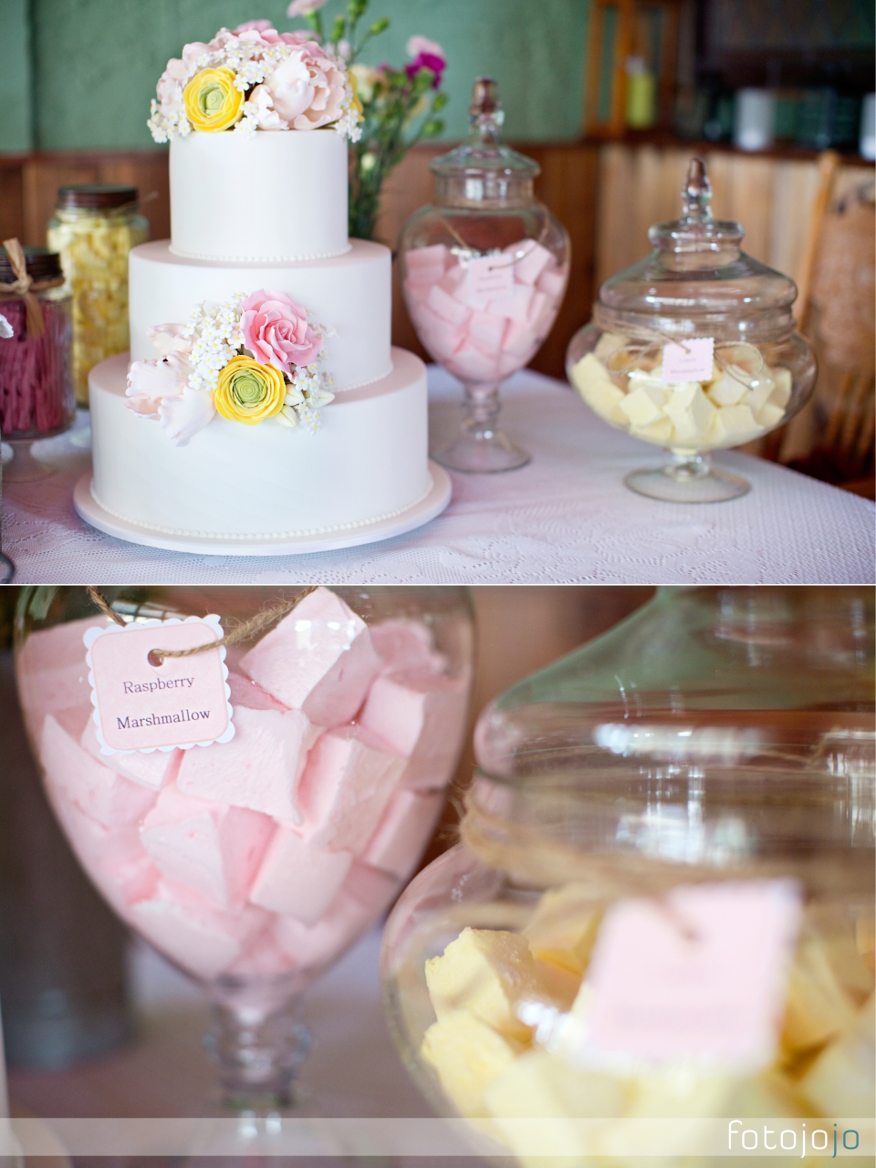 Dessert table for wedding in Melbourne, Marshmallows