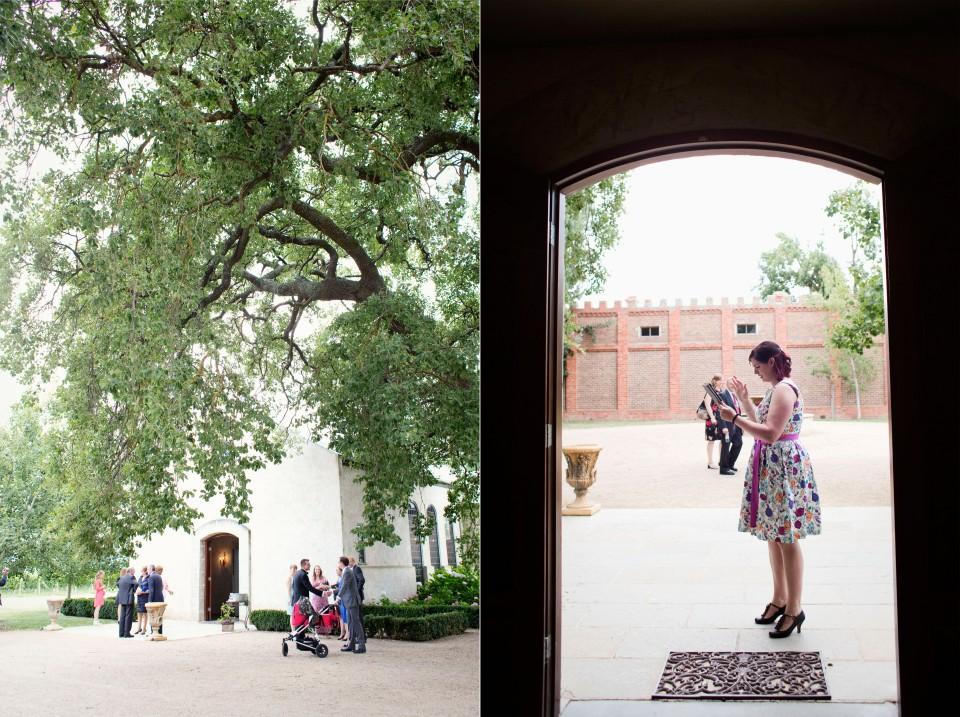 Guests arriving at Stones Wedding chapel