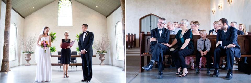informal wedding ceremony in the Yarra Valley