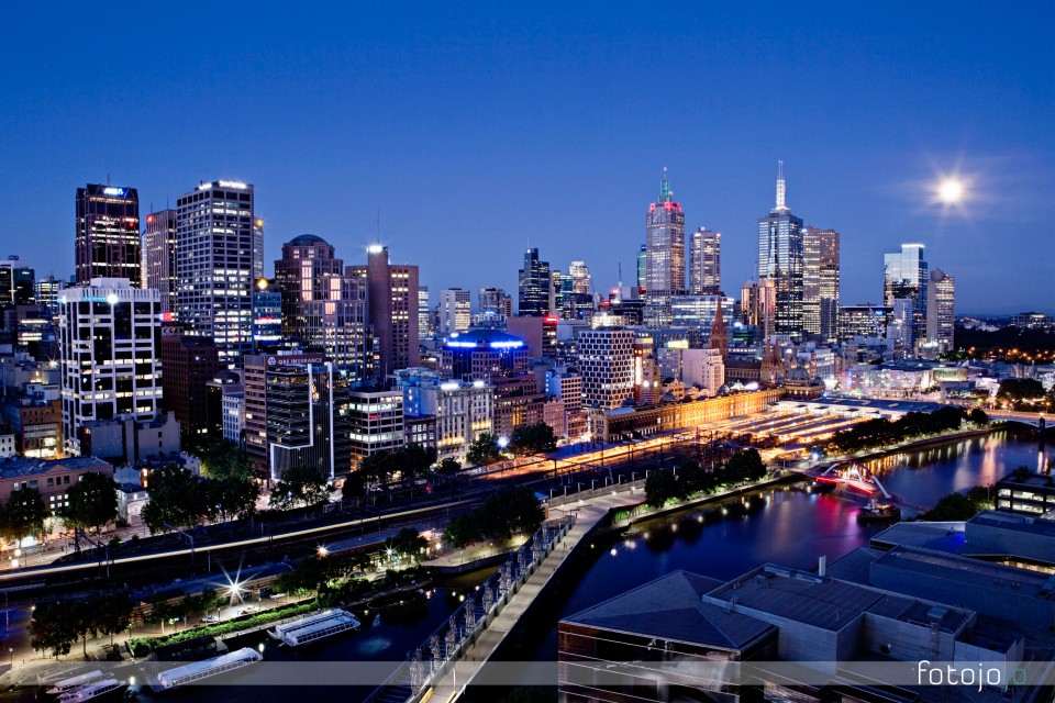 Melbourne Night skyline photos - Prints for sale