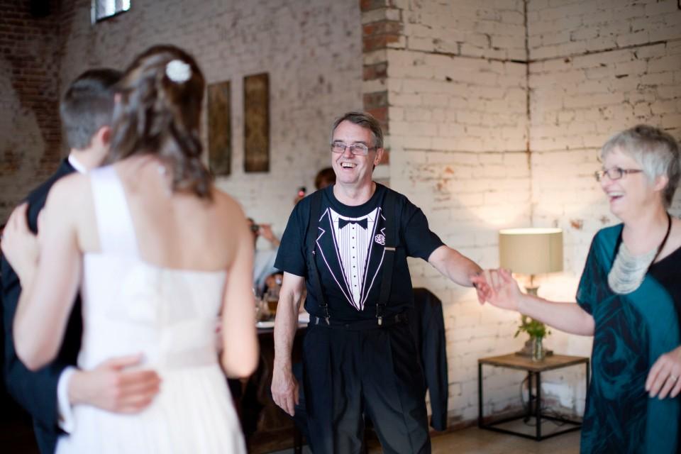tux t shirt at wedding