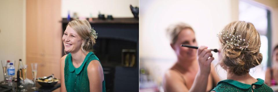 Daylesford wedding photographer, bride getting ready