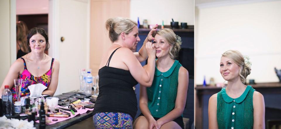 Daylesford wedding make up