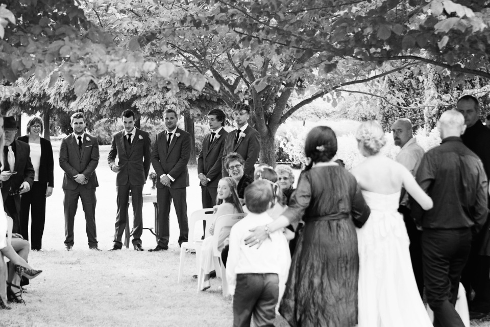 Casual garden Wedding ceremony, Daylesford VIC