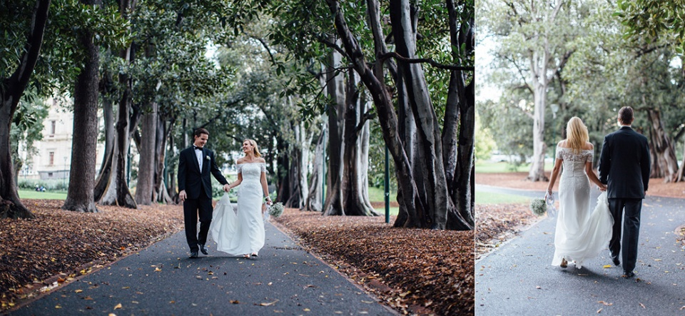 treasury gardens wedding photos