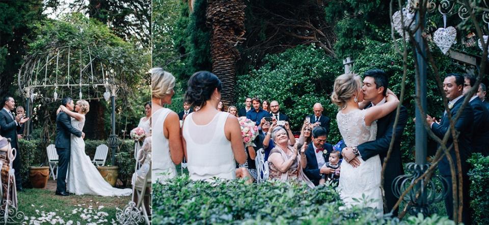 Garden Ceremony in Mlebourne suburbs