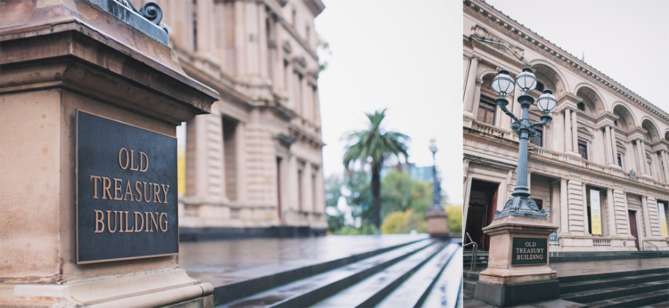 Melbourne treasury building wedding, civil ceremony