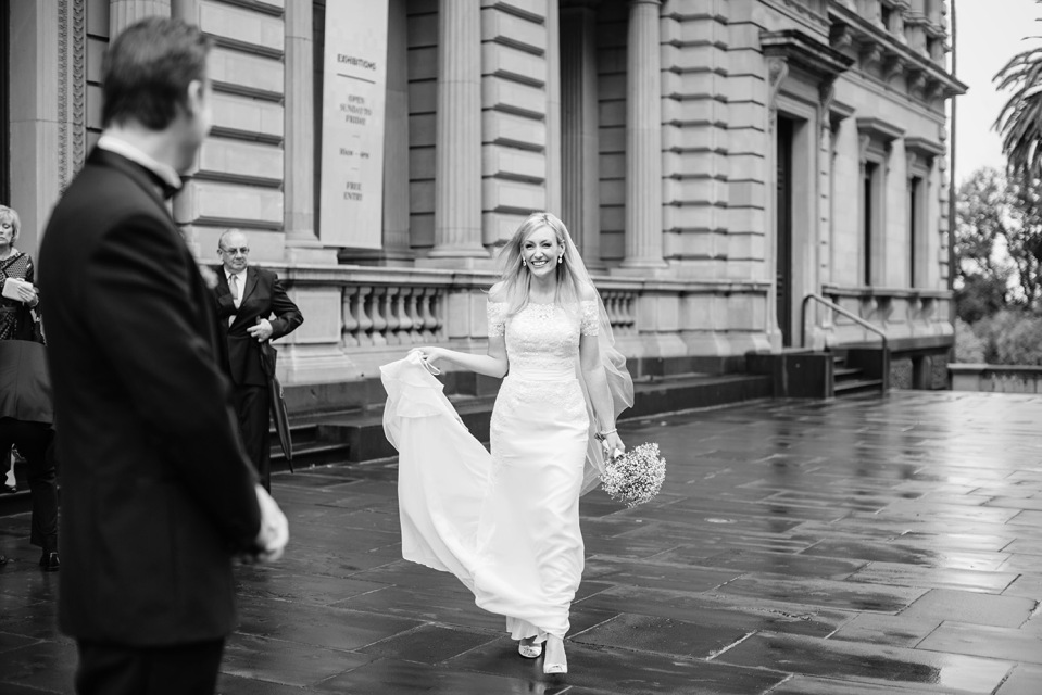 Melbourne elopement wedding at old treasury building
