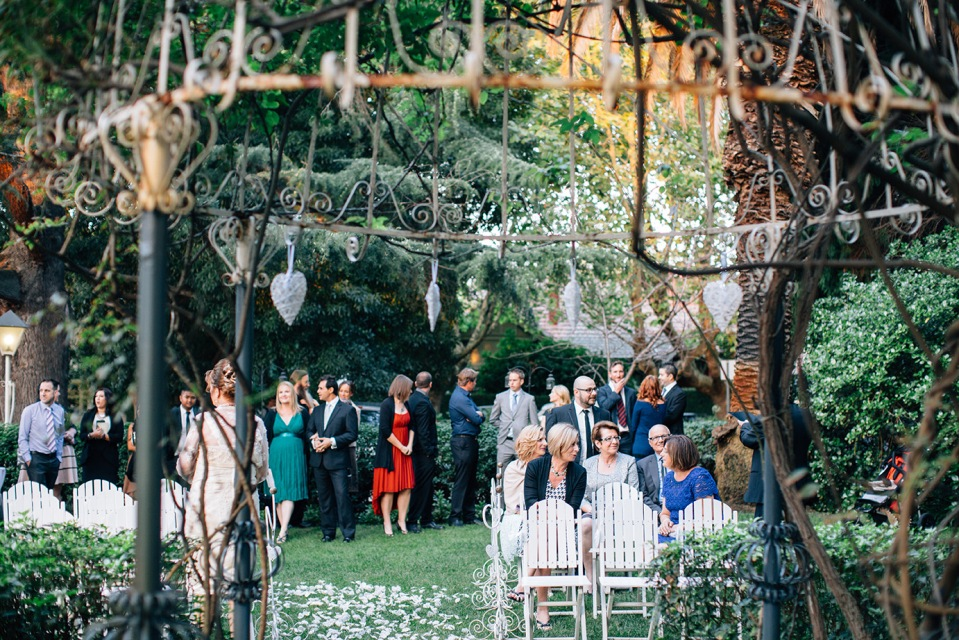 Romantic Garden ceremony in Melbourne
