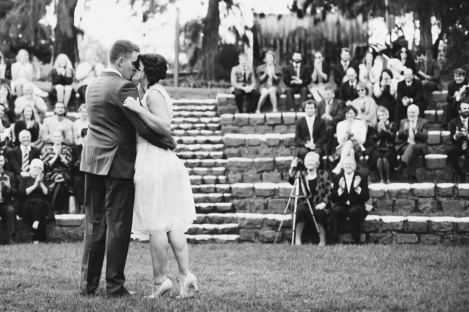 Melbourne civil wedding ceremony - Footscray community art centre amphitheater