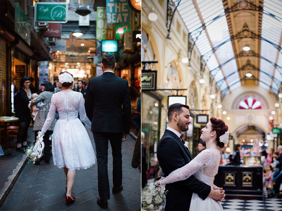 Wedding photos in Melbourne's laneways