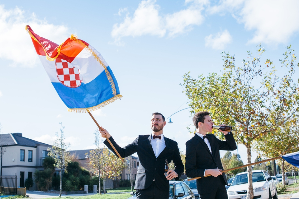 melbourne wedding flags