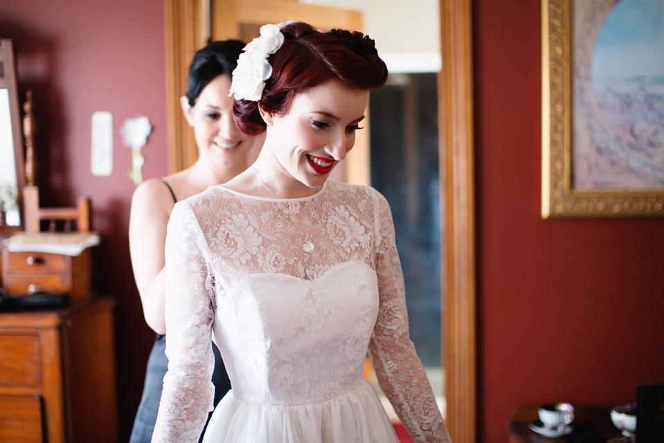 Melbourne 50's style wedding