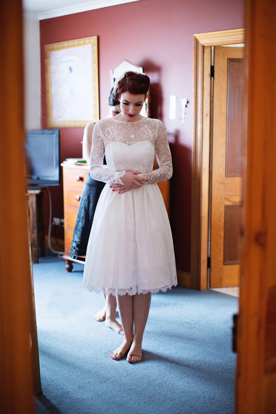short lace wedding dress - melbourne