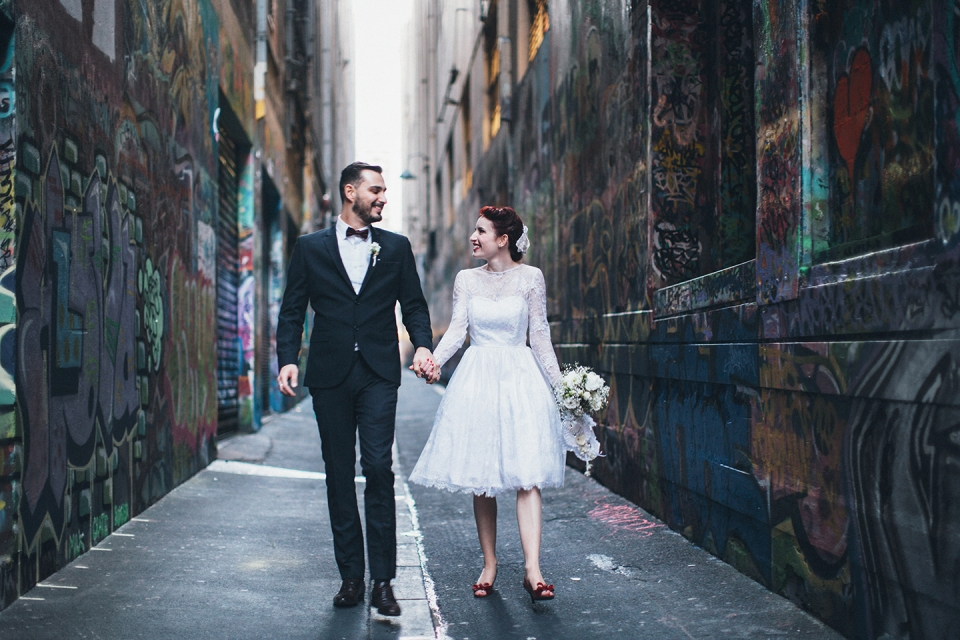 melbourne city wedding photos - union lane