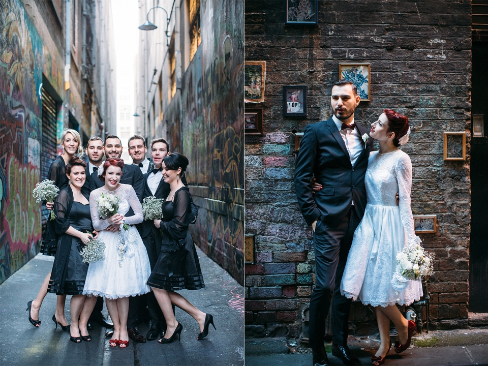 union lane melbourne city wedding photos