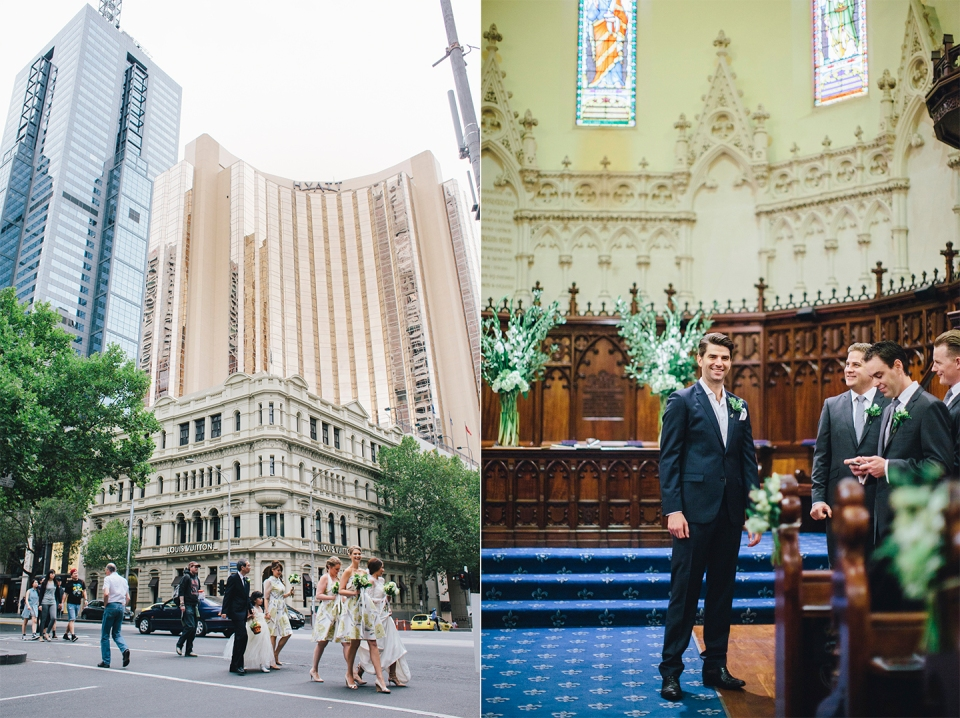 Scots Church and Gran Hyatt Wedding photos in Melbourne